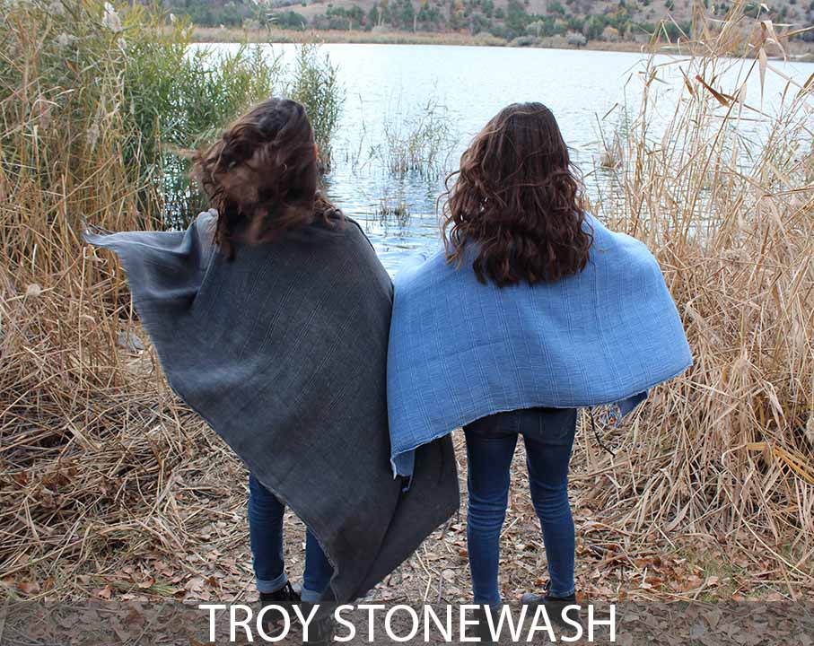 Troy Stonewash Beach Towel