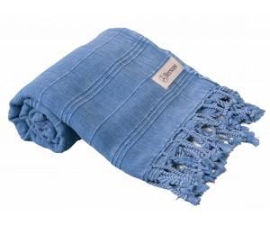 Troy Stonewash Beach Towel Blue