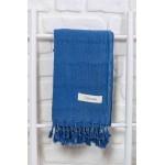 Troy Stonewashed Turkish Towel - 33X66 Inches, Blue