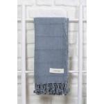 Troy Stonewashed Turkish Towel - 33X66 Inches, Grey