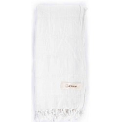 Troy Stonewashed Turkish Towel - 33X66 Inches, White