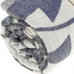 Tulum Dual-Layer Turkish Towel - 37X70 Inches, Dark Blue