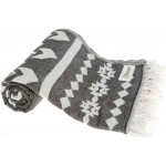 Uxmal Dual-Layer Turkish Towel - 37X70 Inches, Black