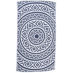 Venice Dual-Layer Turkish Towel - 39X71 Inches, Dark Blue