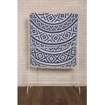 Venice Dual-Layer Turkish Towel - 39X71 Inches, Dark Blue