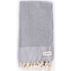 Ventura Turkish Towel - 37X70 Inches, Anthracite