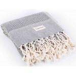 Ventura Turkish Towel - 37X70 Inches, Black