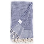 Ventura Turkish Towel - 37X70 Inches, Dark Blue