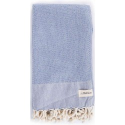 Ventura Turkish Towel - 37X70 Inches, Denim Blue