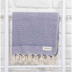Ventura Hand Turkish Towel - 22X35 Inches, Dark Blue