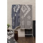 Veracrus Dual-Layer Turkish Towel -37X70 Inches, Black