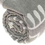 Veracrus Dual-Layer Turkish Towel -37X70 Inches, Silver Gray