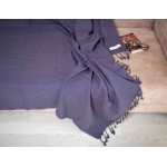 Waffle XL Throw Blanket Turkish Towel - 60X82 Inches, Anthracite