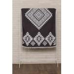 Yucatan Dual-Layer Turkish Towel - 39X71 Inches, Black
