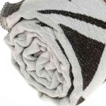 Yucatan Dual-Layer Turkish Towel - 39X71 Inches, Black