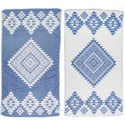 Yucatan Dual-Layer Turkish Towel - 39X71 Inches, Llight Blue