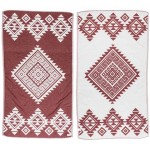 Yucatan Dual-Layer Turkish Towel - 39X71 Inches, Burgundy
