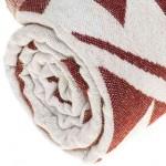 Yucatan Dual-Layer Turkish Towel - 39X71 Inches, Burgundy