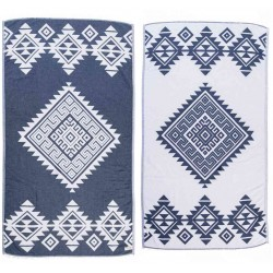 Yucatan Dual-Layer Turkish Towel - 39X71 Inches, Dark Blue
