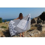 Yucatan Dual-Layer Turkish Towel - 39X71 Inches, Silver Grey