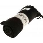 Zuma Stonewashed Turkish Towel - 33X66 Inches, Black