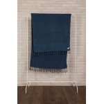 Zuma Stonewashed Turkish Towel - 33X66 Inches, Dark Blue